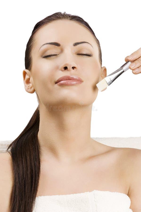 Retrato dos adv da beleza com escova imagens de stock