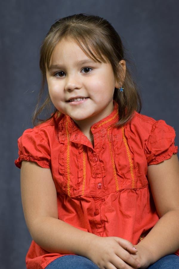 Retrato dos anos de idade 4 fotografia de stock