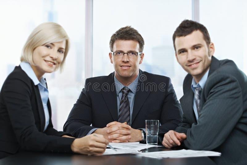 Retrato dos empresários imagens de stock royalty free