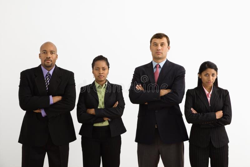 Retrato dos empresários. foto de stock