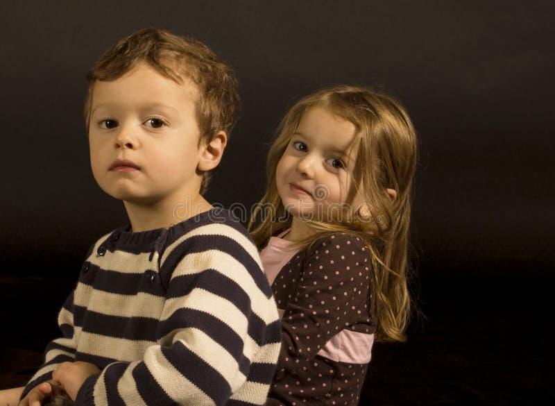 Retrato dos gêmeos fotografia de stock