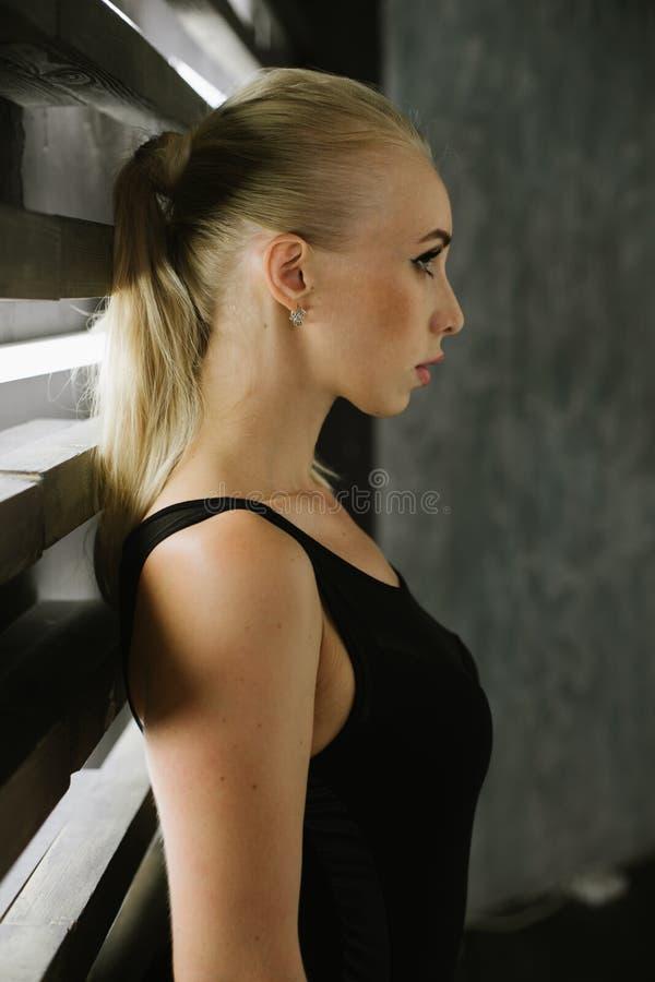 Retrato dos louros com composição no close-up do estúdio foto de stock royalty free