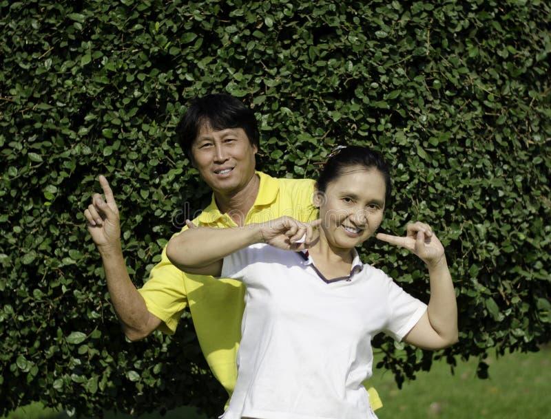 Retrato dos pares bonitos que relaxam fotos de stock royalty free