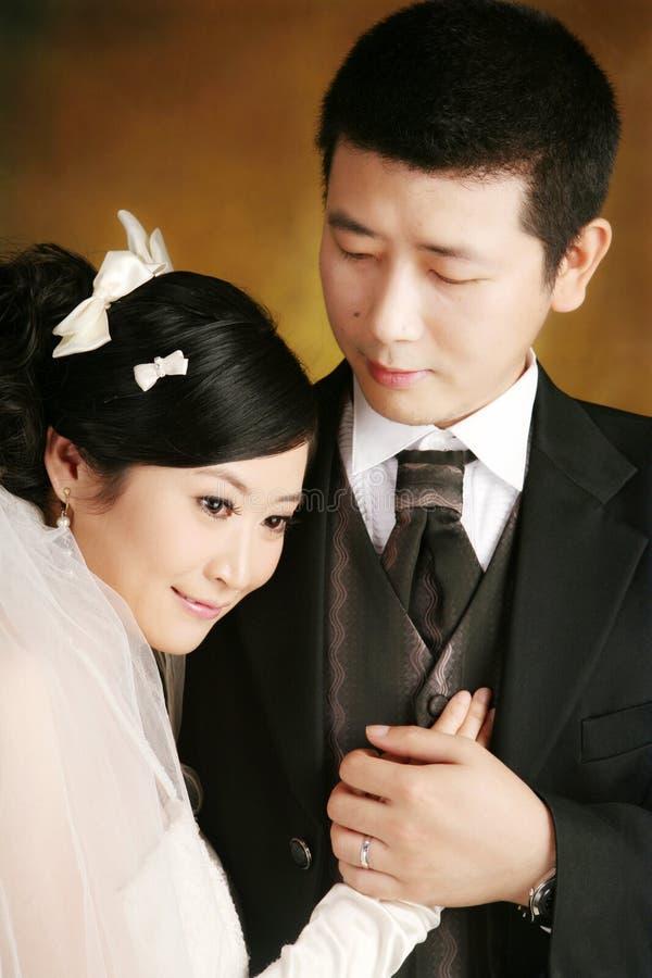 Retrato dos pares do casamento fotografia de stock