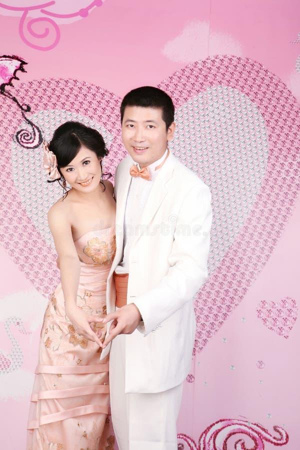 Retrato dos pares do casamento foto de stock royalty free