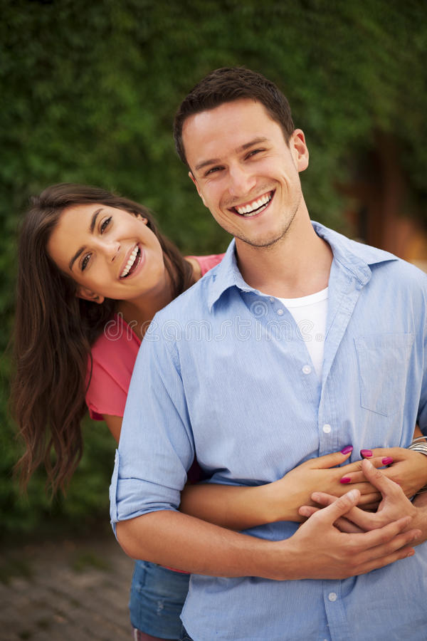 Retrato dos pares no amor fotos de stock royalty free