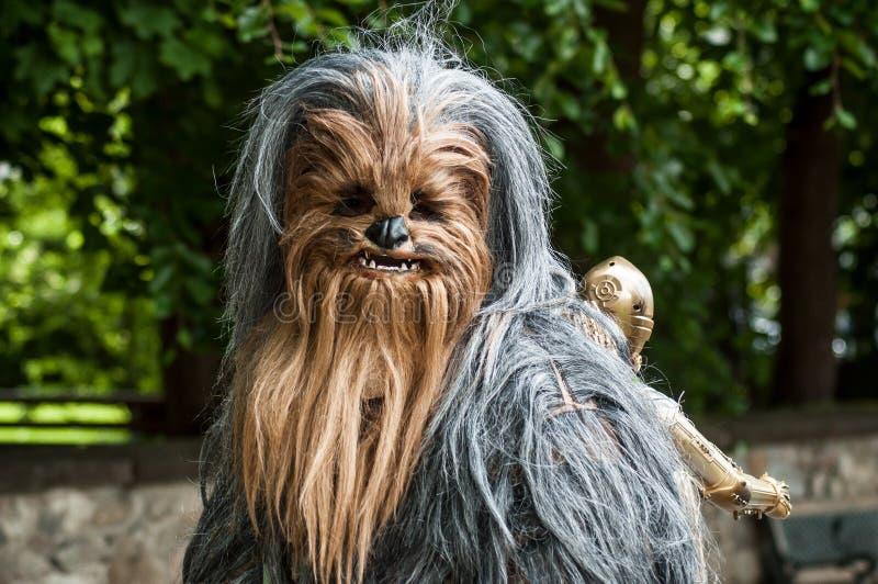 Retrato dos povos com o traje dos Star Wars no evento cosplay da exposi??o imagens de stock royalty free
