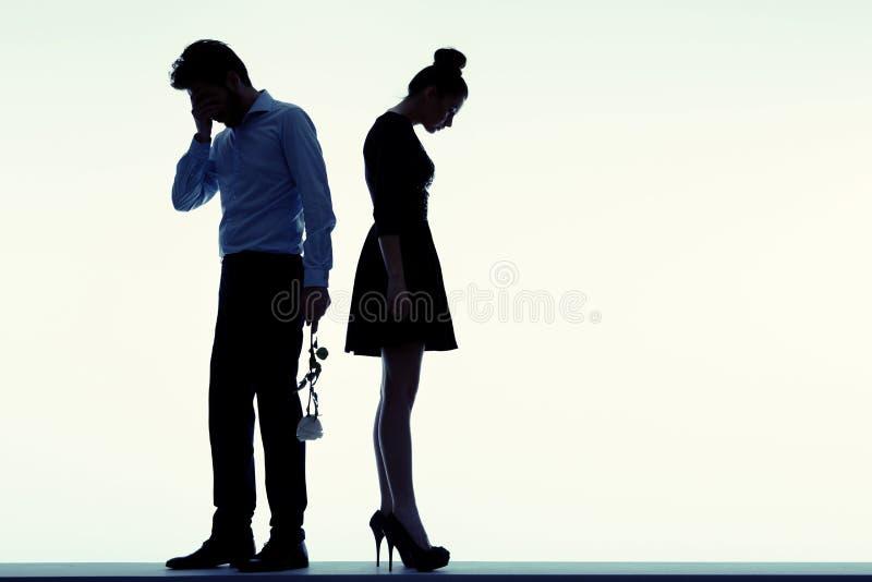 Retrato dos povos tristes fotografia de stock royalty free