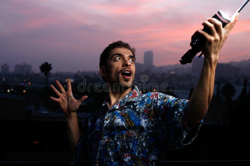 Retrato dramático de um homem em imagem de stock royalty free