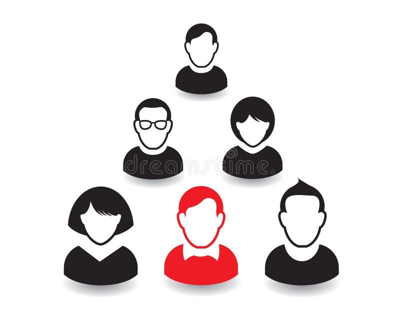 Download Retrato E ícone Humanos Ilustração Do Vetor Equipe Do Escritório Ilustração Stock - Ilustração de ícone, corpo: 65577378