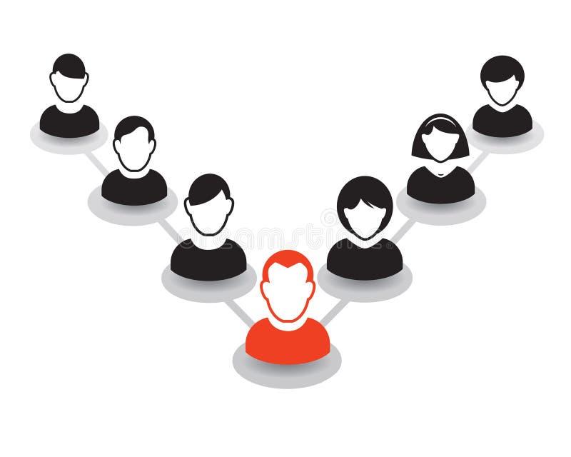 Download Retrato E ícone Humanos Ilustração Do Vetor Equipe Do Escritório Ilustração Stock - Ilustração de liderança, preto: 65577396