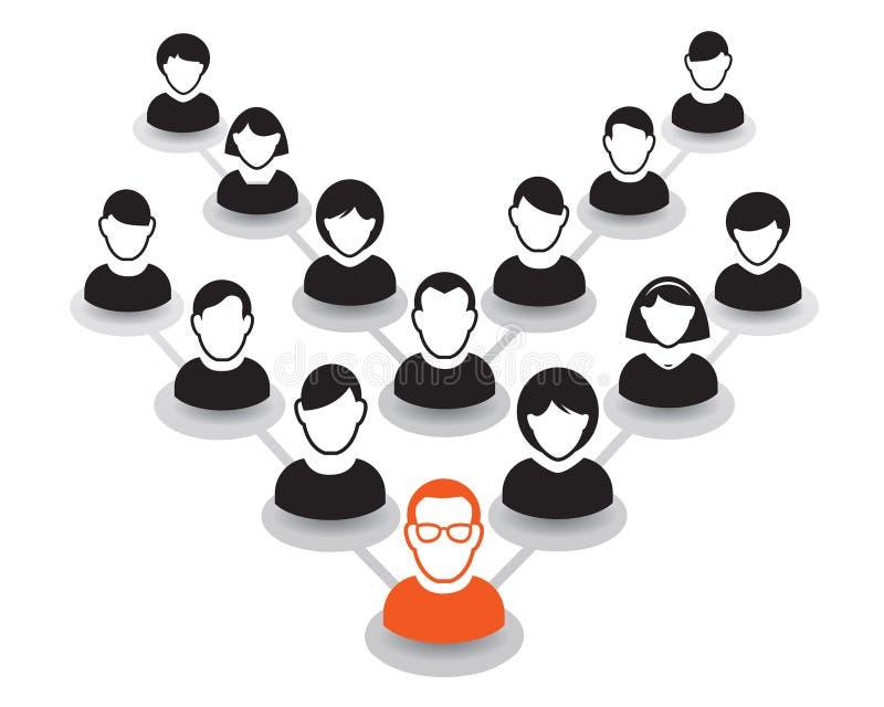 Download Retrato E ícone Humanos Ilustração Do Vetor Equipe Do Escritório E Le Ilustração Stock - Ilustração de liderança, saliência: 65577370
