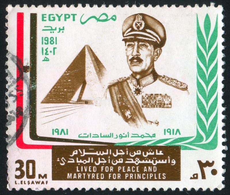 Retrato e pirâmide imagem de stock royalty free