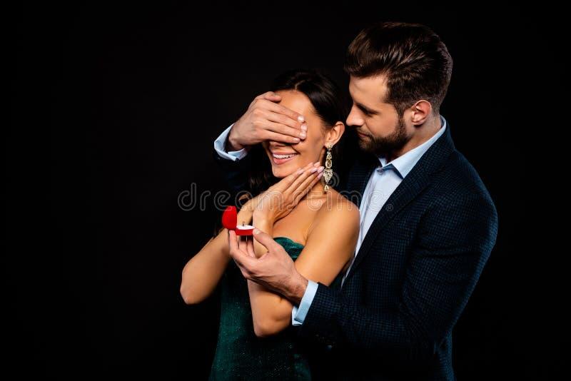 Retrato el suyo él ella ella compañero para dos personas alegre alegre de lujo precioso atractivo fascinador atractivo del alma c imagen de archivo