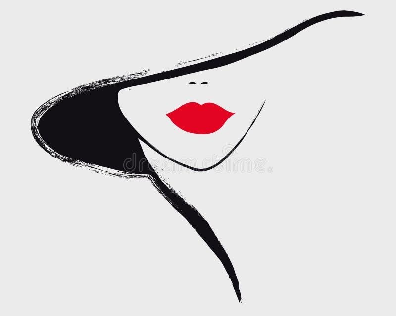 Retrato elegante de una muchacha ilustración del vector