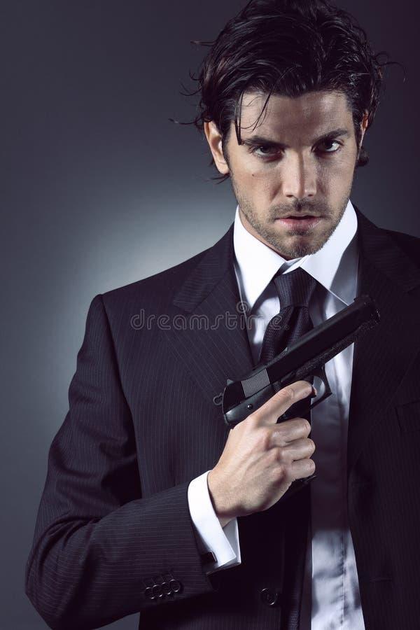 Retrato elegante do espião imagens de stock