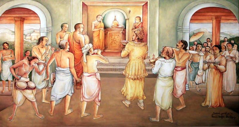 Retrato em um templo