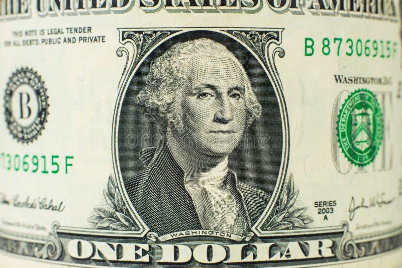 Retrato em uma nota de dólar foto de stock