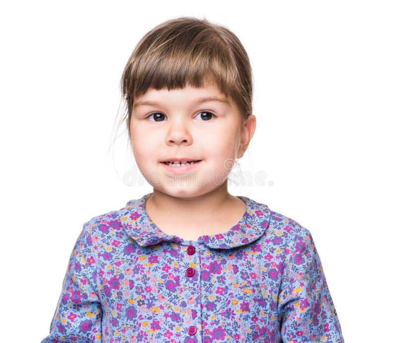 Retrato emocional de la niña imagenes de archivo