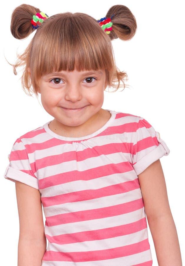 Retrato emocional de la niña imagen de archivo