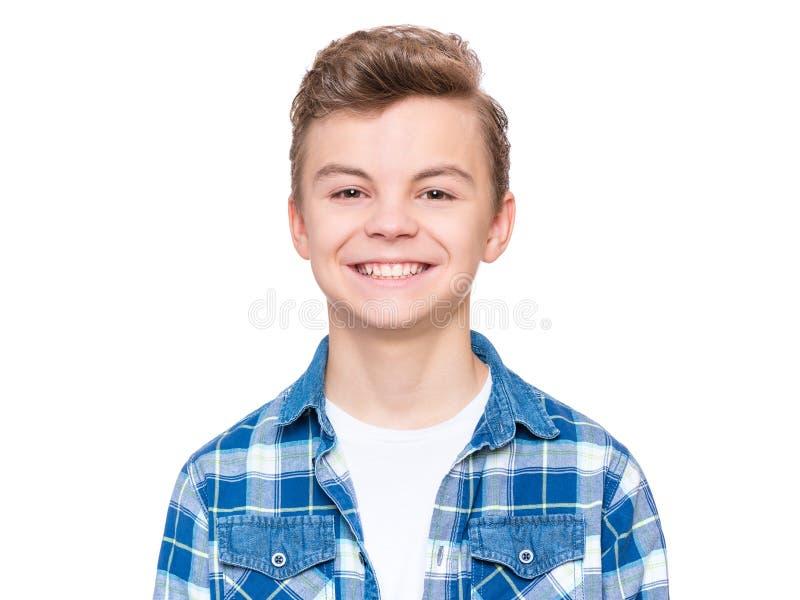 Retrato emocional do menino adolescente fotos de stock royalty free