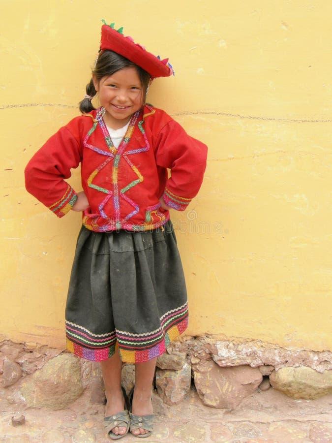 Retrato en luz natural en Perú imagenes de archivo