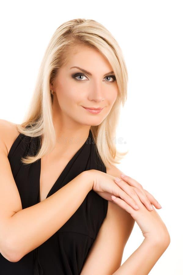 Retrato encantador da mulher nova fotografia de stock royalty free