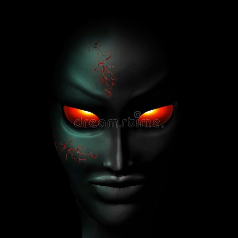 Retrato espeluznante del fantasma del zombi ilustración del vector