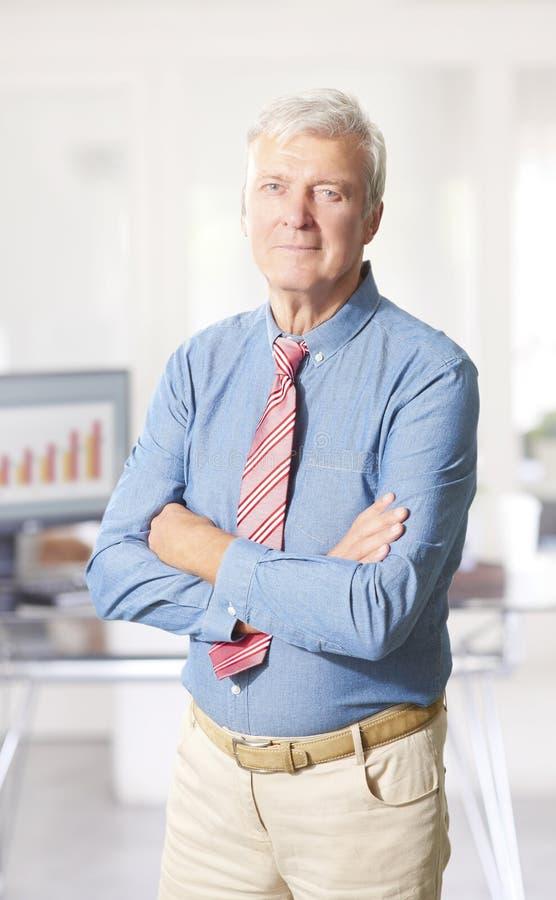 Retrato executivo do alto diretivo imagem de stock royalty free