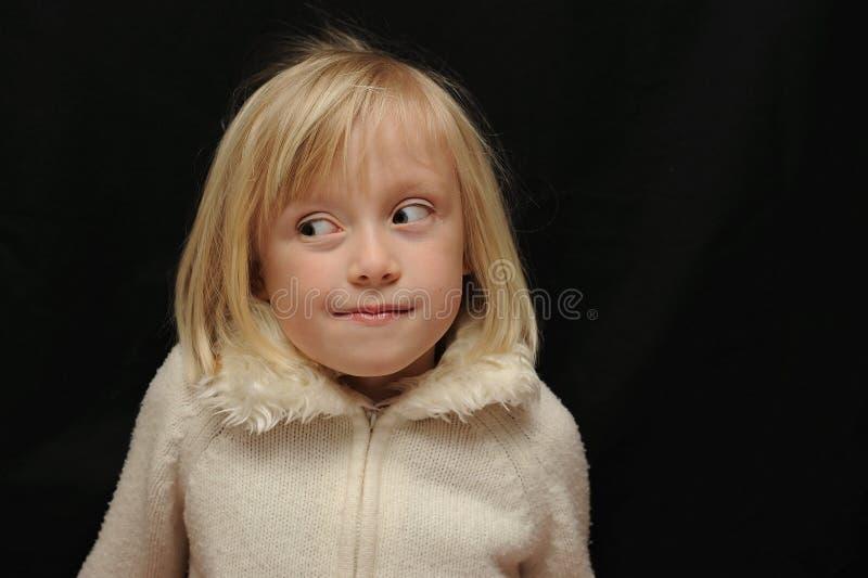 Retrato expressivo da criança foto de stock