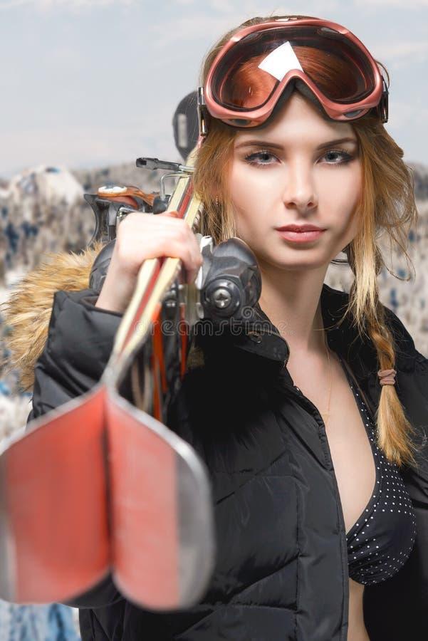 Retrato extremo da menina fotografia de stock royalty free