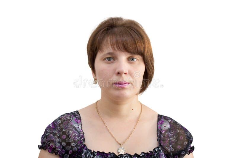Retrato fêmea isolado foto de stock royalty free
