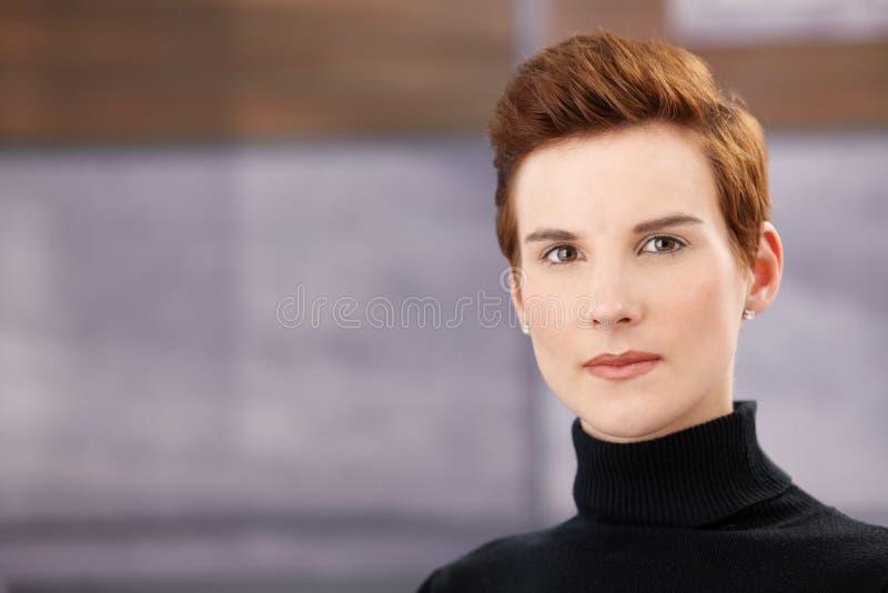 Retrato facial da mulher do gengibre fotografia de stock royalty free