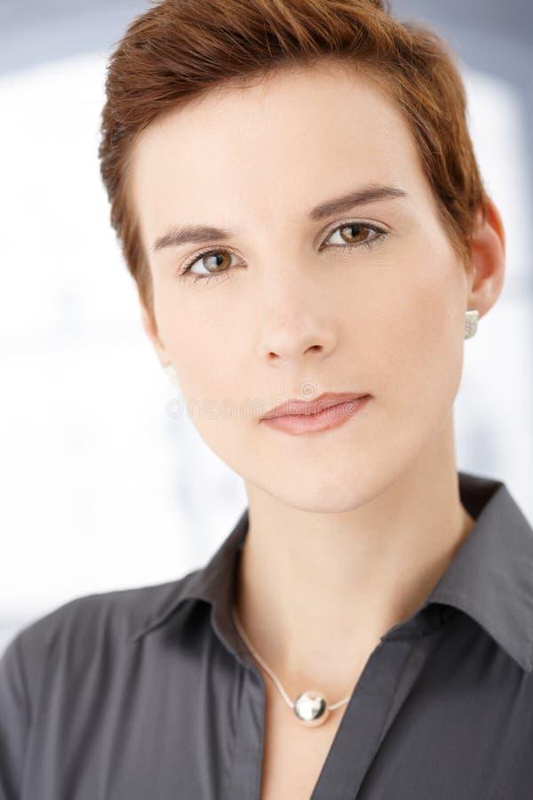 Retrato facial fêmea do close up foto de stock