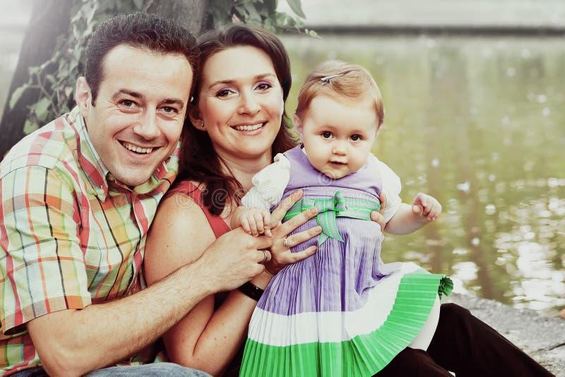 Retrato familiar - padre e hija imagen de archivo libre de regalías
