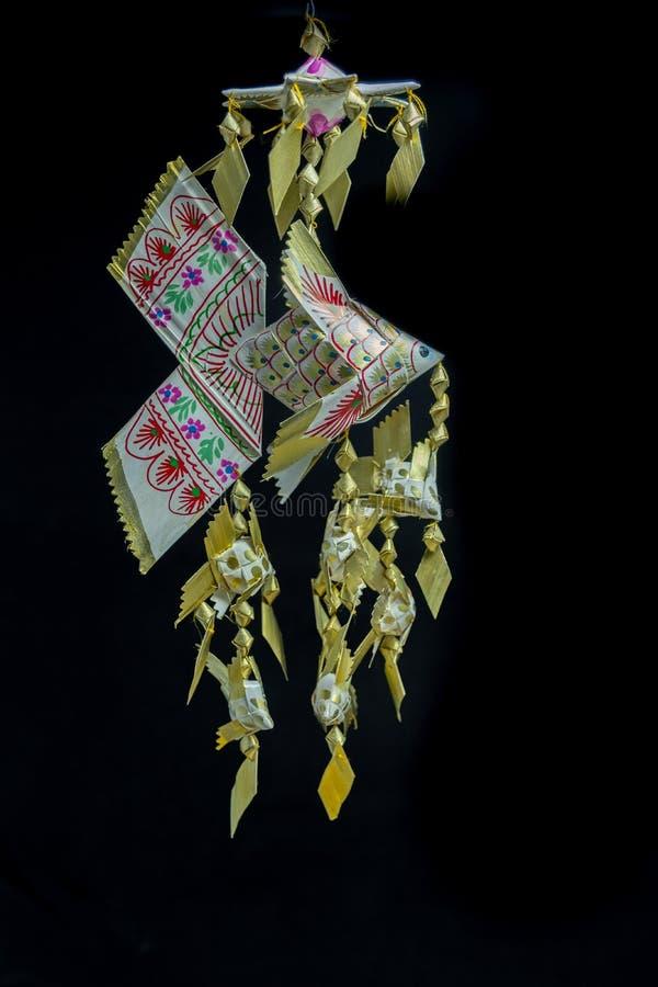 Retrato feito a mão móvel dos peixes tailandeses do estilo imagem de stock