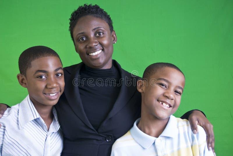 Retrato feliz da família imagens de stock