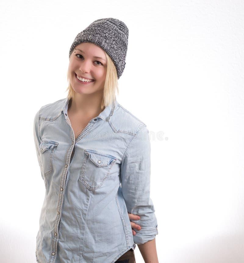 Retrato feliz da menina foto de stock