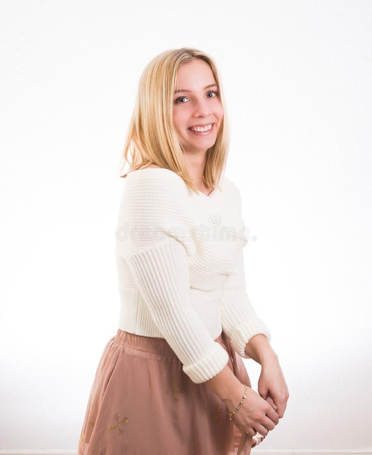 Retrato feliz da menina fotos de stock royalty free