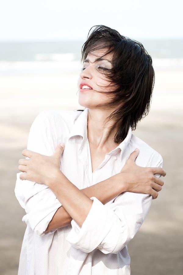 Retrato feliz da mulher fotos de stock royalty free