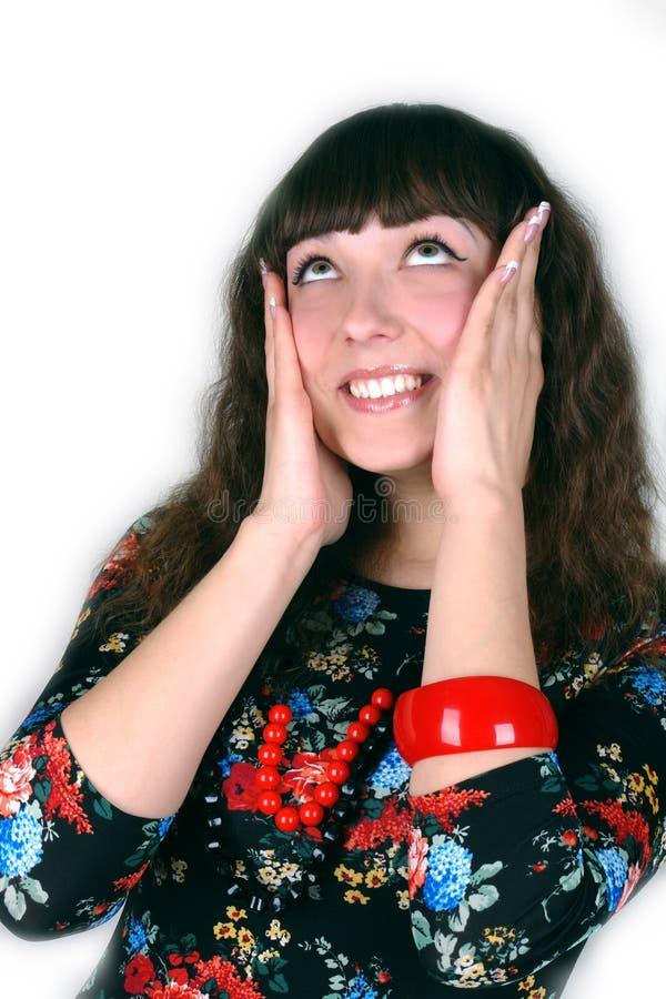 Retrato feliz da mulher nova imagem de stock