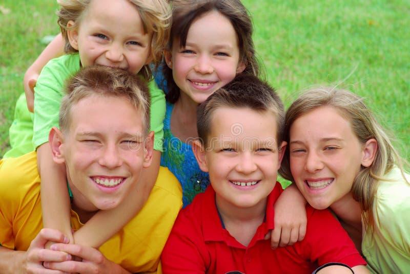 Retrato feliz das crianças imagens de stock