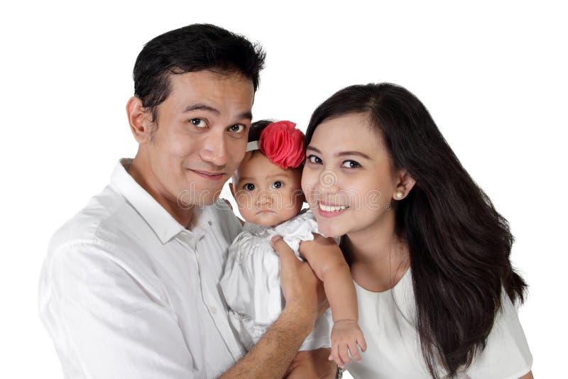 Retrato feliz de la familia imagen de archivo libre de regalías