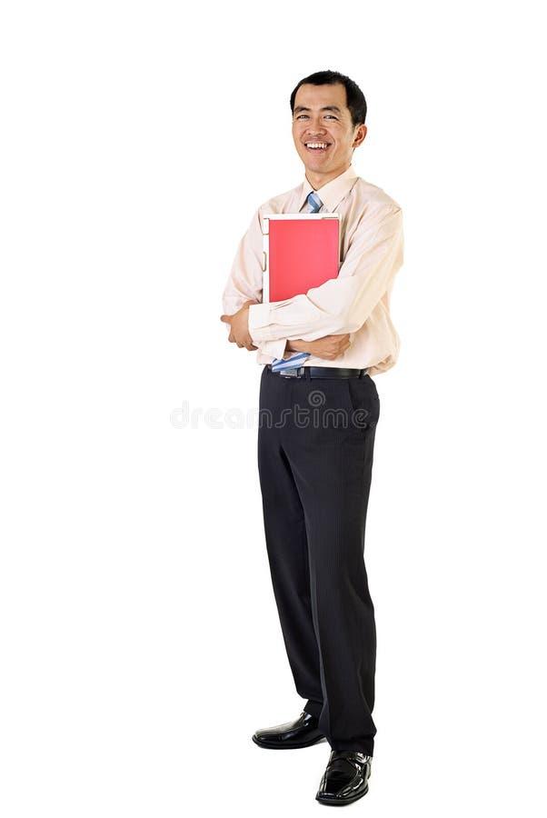 Retrato feliz del hombre de negocios foto de archivo