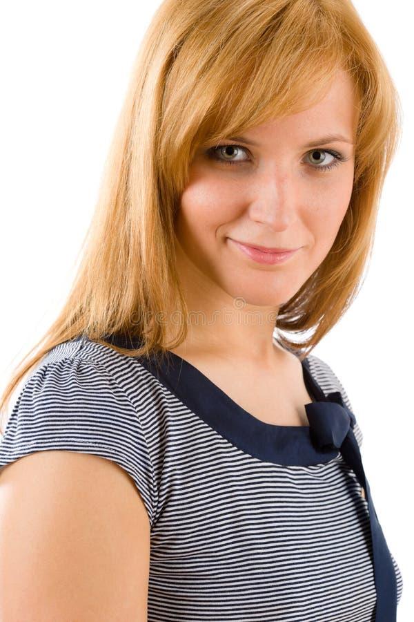 Retrato feliz novo da forma da mulher fotos de stock