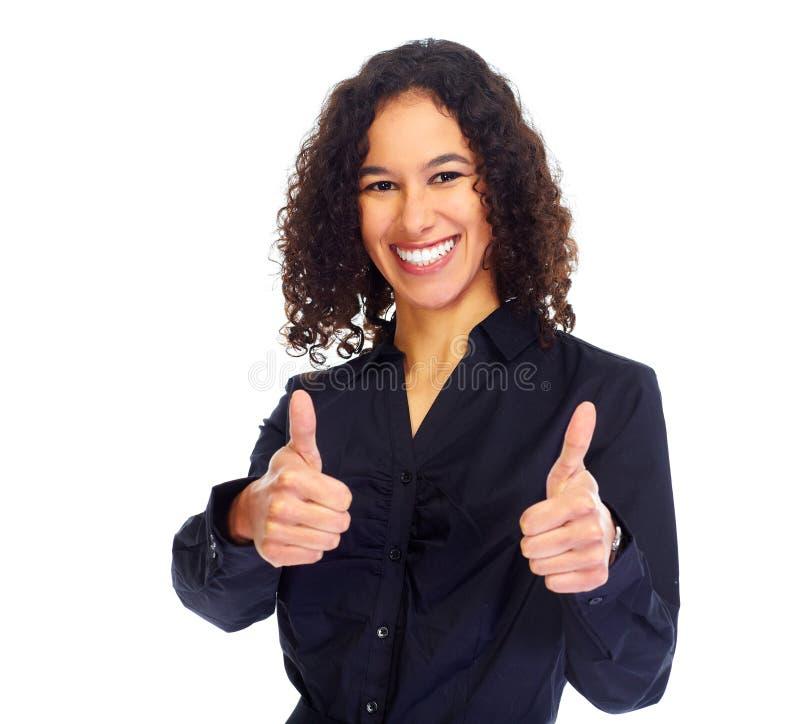 Retrato feliz novo da mulher de negócio foto de stock royalty free