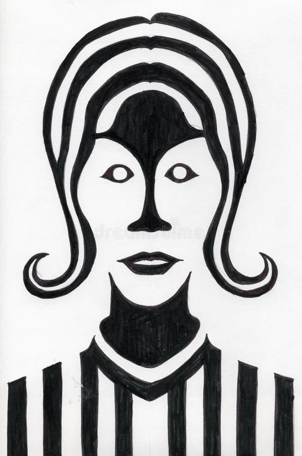 Retrato femenino stock de ilustración