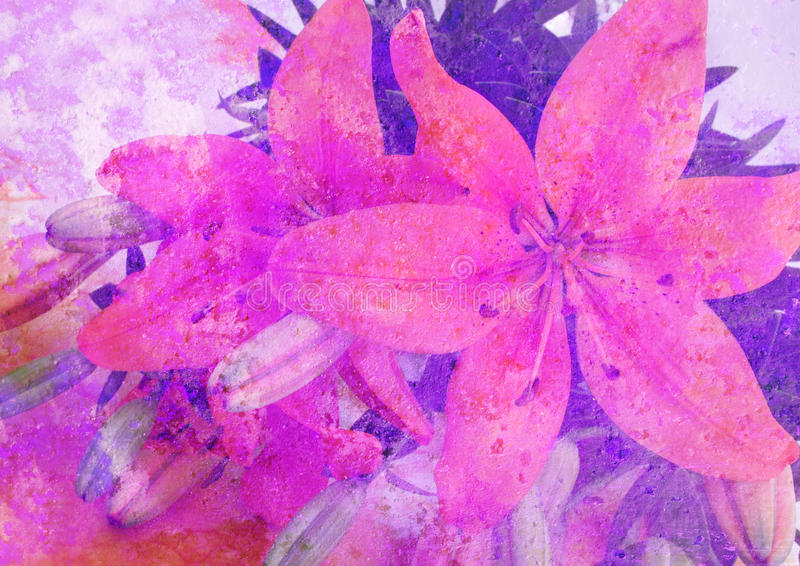 Retrato floral estilizado ilustração do vetor