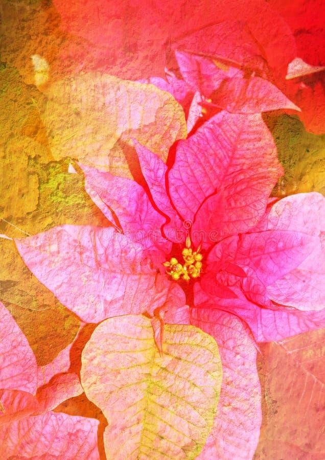 Retrato floral estilizado do vintage foto de stock