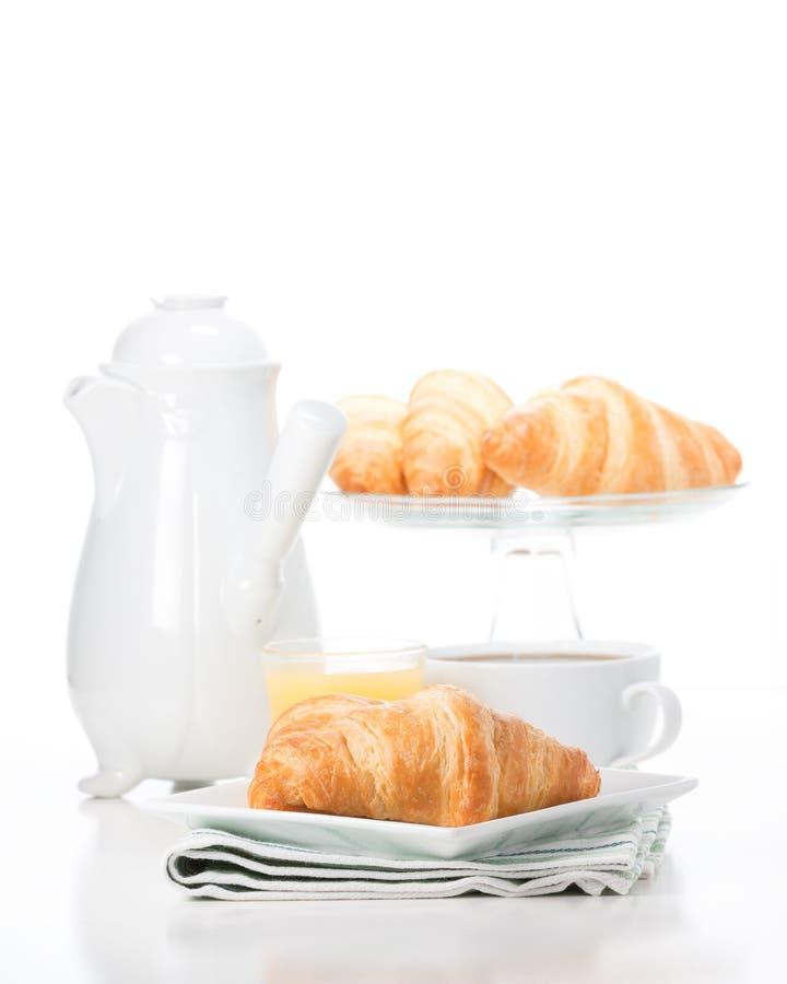 Retrato fresco amanteigado dos croissant imagens de stock